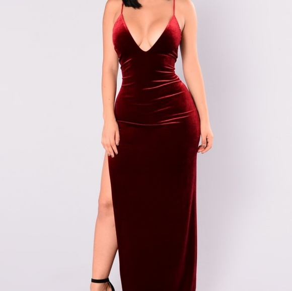 0a56d733d1b17c Fashion Nova Dresses | Red Sexy Velvet Dress | Poshmark