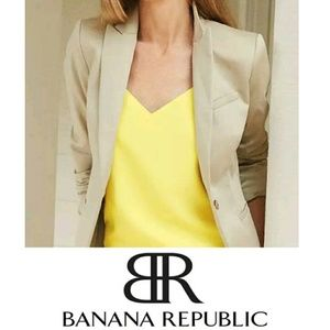 NWT Banana Republic 12 Petite Tan Fitted Jacket
