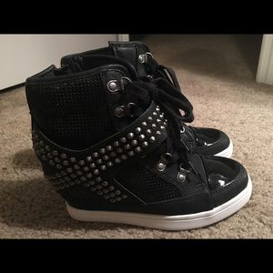 Aldo wedge studded sneakers