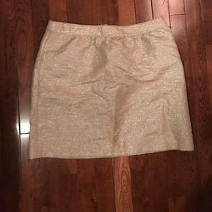 Cream metallic skirt