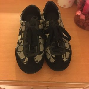 hot sale online 5da8a e1789 Shoes - Black and white coach sneakers