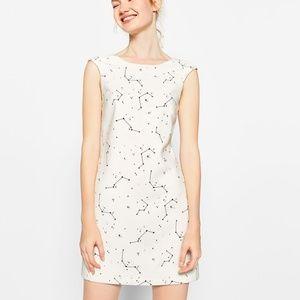 Zara Trafaluc Collection White Constellation Dress