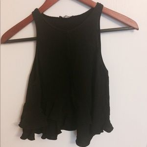 Zara Crop Top with ruffles at the bottom