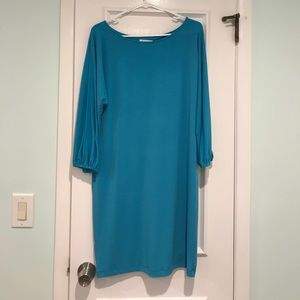 Calvin Klein Turquoise Shift Dress, Sz 10