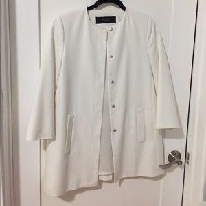 """White """"Zara Basics""""Jacket/Blazer"""