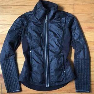 Lululemon Black fleece full zip coat warm! Sz 4