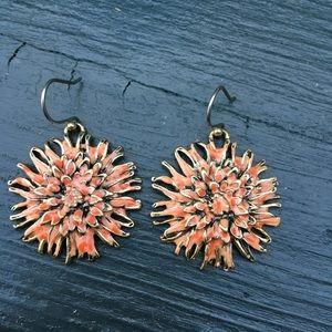 Lucky Brand Coral Flower Earrings