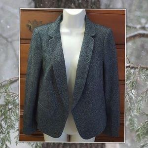 LOFT Cotton/Wool Blend Tuxedo Blazer 6P