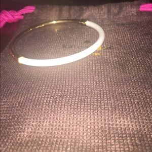 White and Gold Kate Spade Bangle