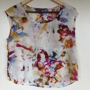 Matty M Dyed 100% Silk Blouse S Made In USA