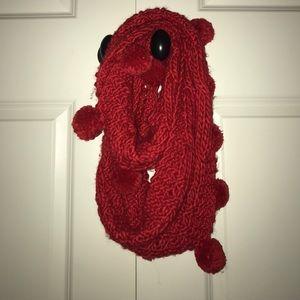 Pom Pom fall/winter infinity scarf