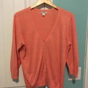 Old Navy lightweight coral color cardigan.