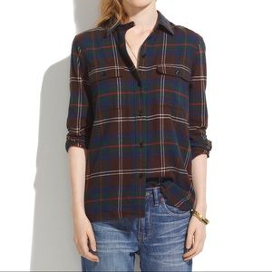Madewell Ex-Boyfriend Shirt in Thicket Plaid