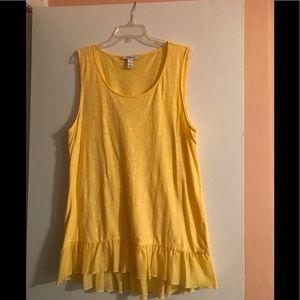 Yellow tunic top