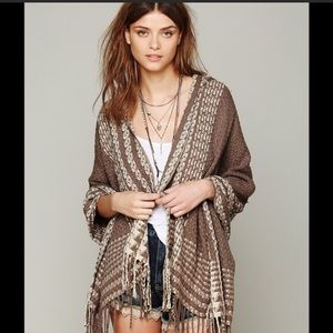 Free People hooded shawl & scarf