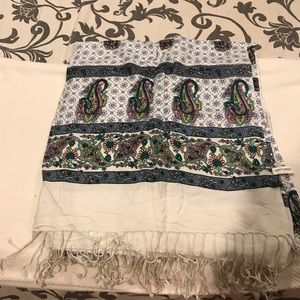 Blue and paisley scarf
