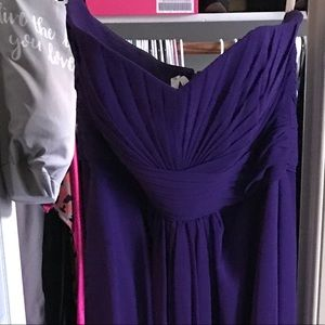 Dark Purple Strapless Davids Bridal Evening Gown