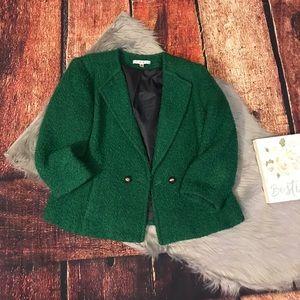 Cabi  ivy emerald & green Wool/ tweed jacket sz 8