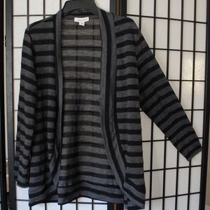 Grey and Black stripped cardigan