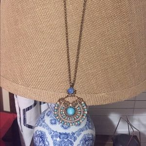 Gold necklace with gorgeous pendant