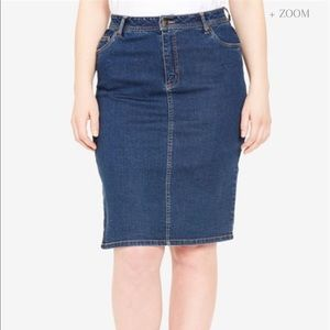 Jessica London denim skirt