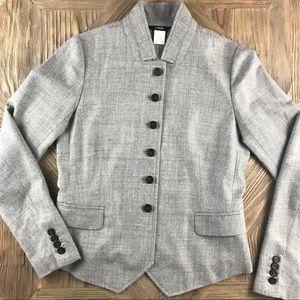 J.Crew Grey Wool Blazer - Size 2
