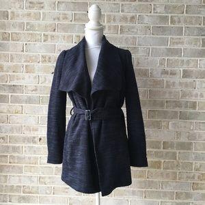 Banana Republic Knit Wrap Blazer Jacket Blue 0 XS