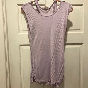 Purple shirt with tank attached under.