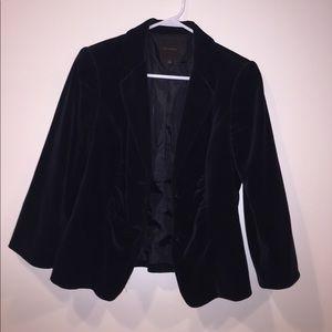 The Limited Black Velvet Blazer