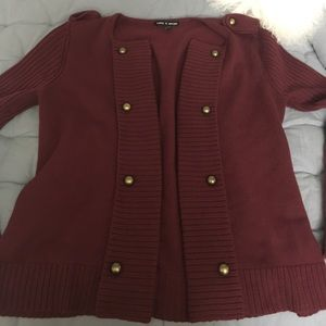 Cable and Gauge wine colored sweater Medium