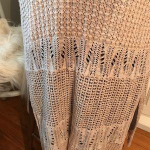 Long Crocheted Maxi vest sweater