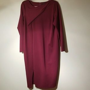 Eloquii burgundy dress