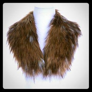 Finn Raccoon Liz Lange Faux Fur Collar