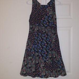 Vanilia. Silk.Floral Dress