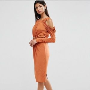 Never worn! - Rust colored guest of wedding dress