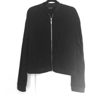 Topshop Pleated Bomber Jacket