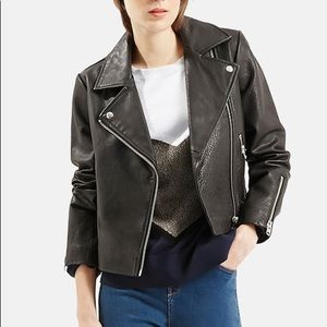 Topshop Leather Biker Jacket NWT