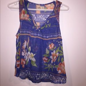 Hollister Sheer Floral tank
