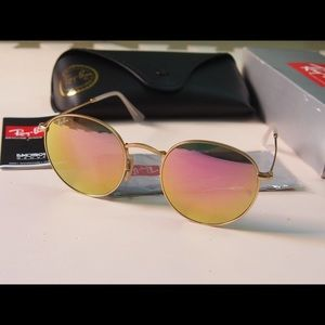 Rose gold round 3447 sunglasses