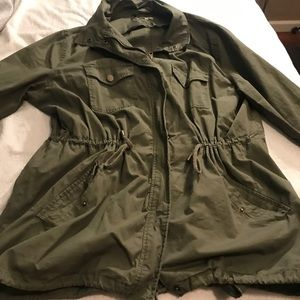 Army green coat *Plus Size*
