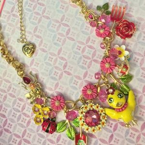 BETSEY JOHNSON Garden Party Chickadee Necklace