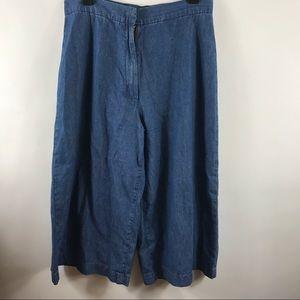 Zara Trafaluc denim makers culottes size 8