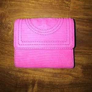 Tory Burch Trifold Pink Wallet