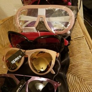 variety of sun glasses different colors brands