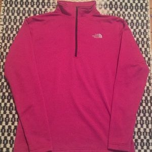 Pink North Face 1/4 zip Pullover Jacket