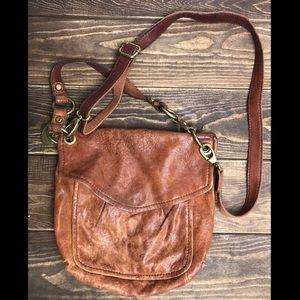 Real leather Vintage Fossil Messenger bag
