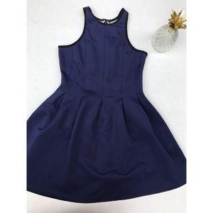 NWT Evenuel Boarding School Pleated Navy Dress- M