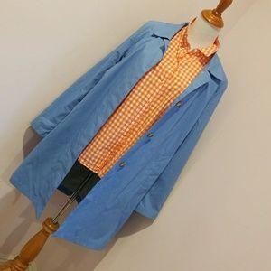 GAP blue rain coat.         EUC med.