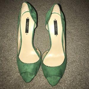 Zara Suede Green Pumps/Heels