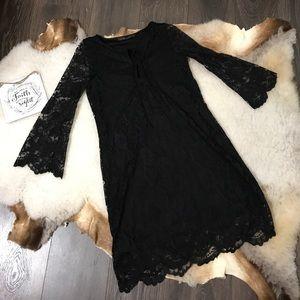 Zara Trafaluc Long Sleeve Lace Black Dresd Sz XS